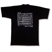 Mozart İmzalı ve Notalı Tişört (Siyah)