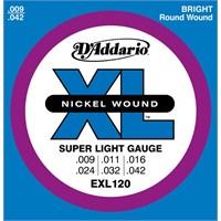 Daddario Exl120 Super Light Elektro Gitar Takım Tel