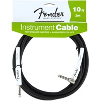 Fender 10 Performance Instr. Cable, Angled, Bk