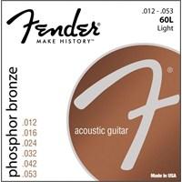 Fender Phos. Brnz. Acout. Guit. Strngs Ball End 60 Akustik Gitar Teli