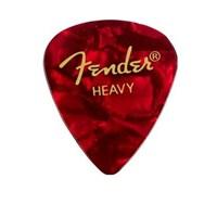 Fender 351 Shape Premium Picks, Heavy, 12 Pack, Red
