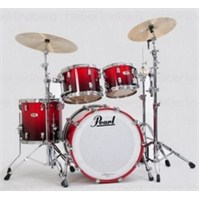 Pearl Reference RF924 XAP/C155 4-Pc Scarlet Fade Akustik Davul Seti