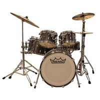 Remo Gold Crown Advanced Acousticon 5Pc Fusion Drumset 7X10 8X12 14X14 5.5X14 16X20 Metalized Nickel-Silver