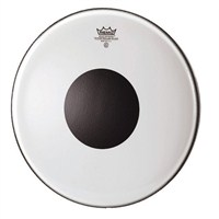 Remo Batter Controlled Sound Clear 18 Diameter Black Dot On Top