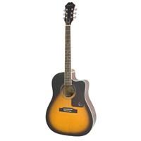 Epiphone AJ-220SCE Solid Top Elektro Akustik Gitar blk