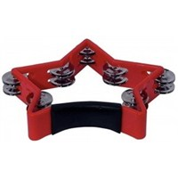 Basix Star Shape Tambourine Red
