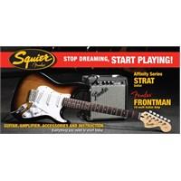 Squier Affinity Series Strat Frontman 10G Amp SB Elektro Gitar Seti