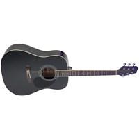 Stagg Sa40D-Bk Akustik Gitar