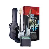 Stagg Esurf 250 Bk Elektro Gitar Seti