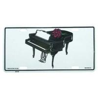 Kuyruklu Piyano Metal Plaka