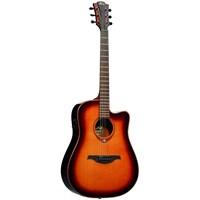 LAG T100DCE-BRS Tramontana Dreadnought Brown Elektro Akustik Gitar