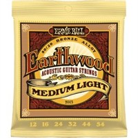 Ernie Ball P02003 Earthwood Medium Light 80/20 Bronze 0.12 - 0.54 Akustik Gitar Teli