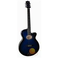 Gitar Akustik Extreme Blueburst XA35BLS (kılıf + Pena +tel Hediyeli)