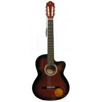 Barcelona Lc 3900 Crds Cutaway Kırmızı Sunburst Klasik Gitar
