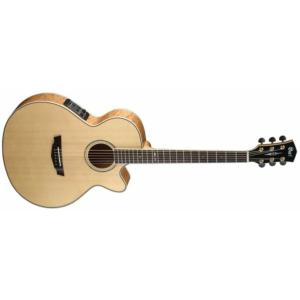 cort sfx10nat elektro akustik gitar mini jumbu cutaway abalone mb