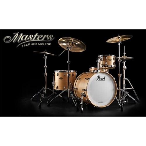 """Pearl MPL904XP /C111 Masters Premium Matte Natural 4 Parça Davul Seti (20""""x16"""" Bass / 10""""x8"""" Tom / 12""""x9"""" Tom / 14""""x14"""" Floor To"""