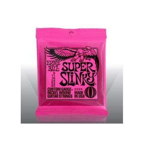 Ernie Ball Po2223 Super Slinky Nickel Wound 009-042 Elektro Gitar Tel Seti