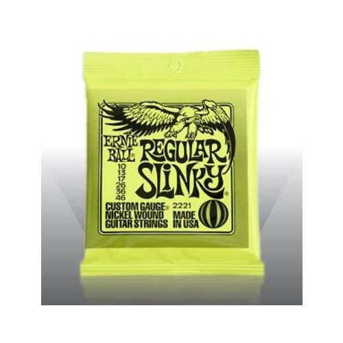 Ernie Ball Po2221 Regular Slinky Nickel Wound 010-046 Elektro Gitar Tel Seti