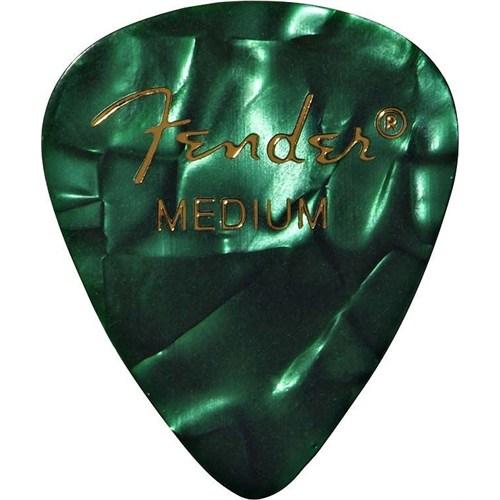 Fender 351 Shape Premium Picks, Medium, 12 Pack, Green