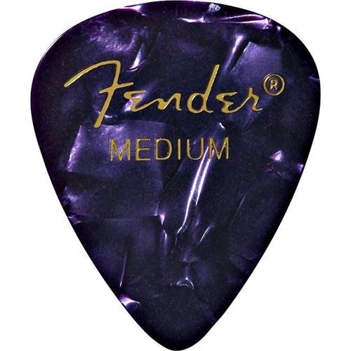 Fender 351 Shape Premium Picks, Medium, 12 Pack, Purple