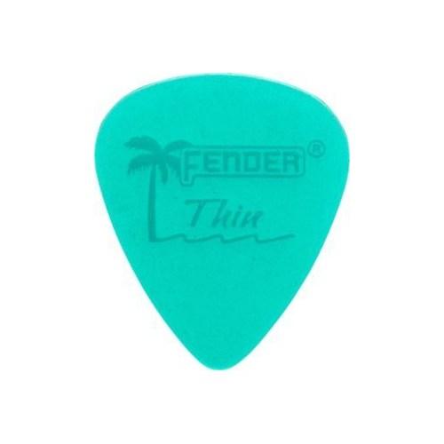 Fender California Clear Picks, 12 Pack, Thin, Surf