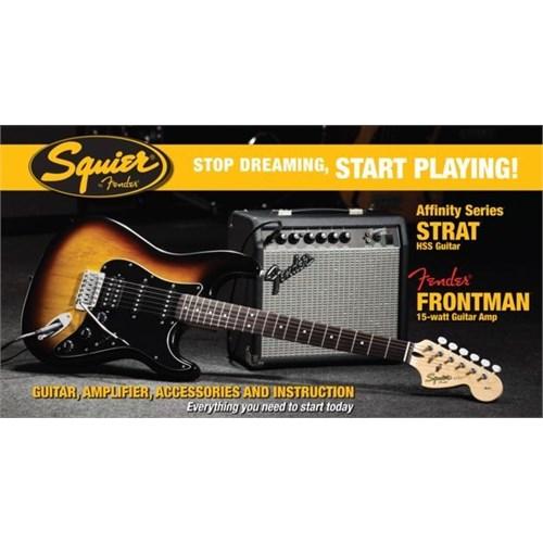 Squier Affinity Set Strat Hss Bsb Frontman 15G
