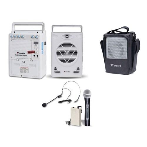 Westa Taşınabilir Anfi 75W El Ve Yaka Mikrofonlu