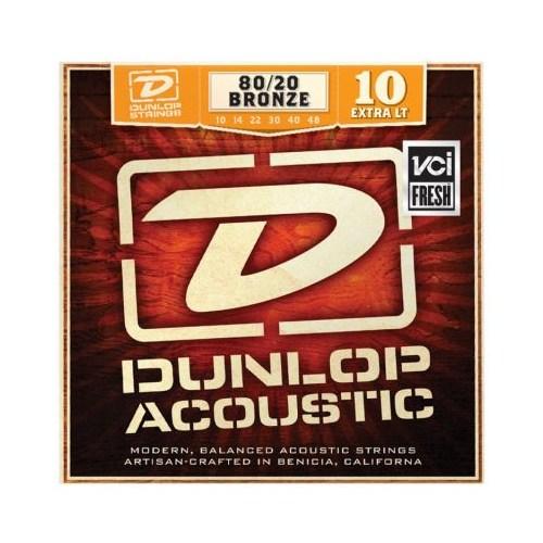 Jim Dunlop Dab 10-48 Extra Light 80/20 Bronze Akustik Gitar Tel Seti