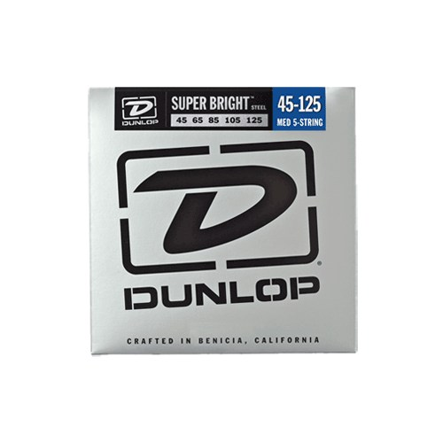Jim Dunlop 45-125 Super Bright Çelik 5 Tel Bas Gitar Tel Seti