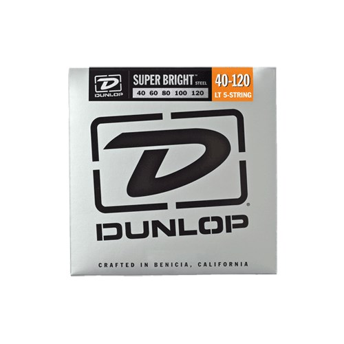 Jim Dunlop 40-120 Super Bright Çelik 5 Tel Bas Gitar Tel Seti