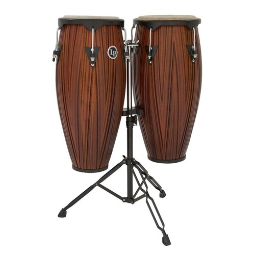 "Lp Lp646ny-Cmw 10 & 11"" Conga Set Carved Mango Wood (Stand Dahil)"