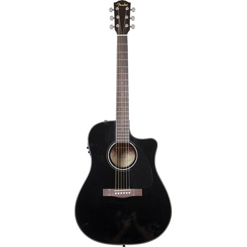 Fender Cd-60Ce Blk Cutaway Spruce Top Nato Back/Si