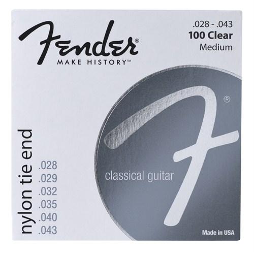 Fender Nylon Acoustic Strings, 100 Clear/Silver, T