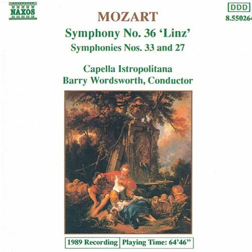 Mozart - Symphony Nos. 36, 33 And 27 Cd