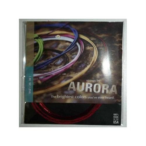 Uzun Sap Saz Teli Aurora Kırmızı Tel 020