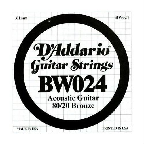 Daddario Akustik Gitar Sol (G) Tek Tel-Bw024