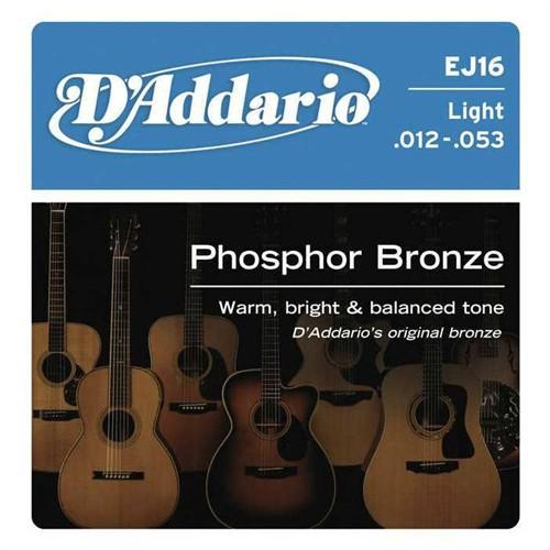 Daddario J16 Akustik Gitar Tel Set Light 012