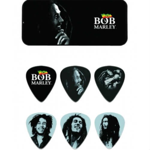 Bob Marley Collectible Picks Silver Portrait