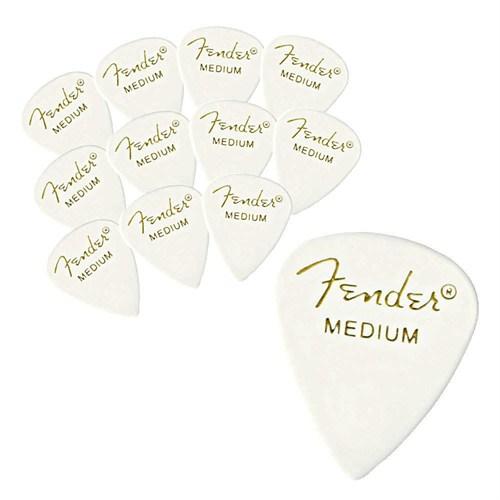Fender Classic Celluloid 351 Medium Beyaz