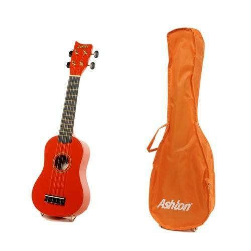 Ashton Uke100Ng Ukulele Gitar Turuncu +Kılıf