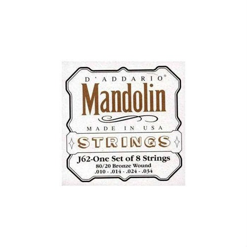 Mandolin Tel Set Daddario J62 8020 Bronze