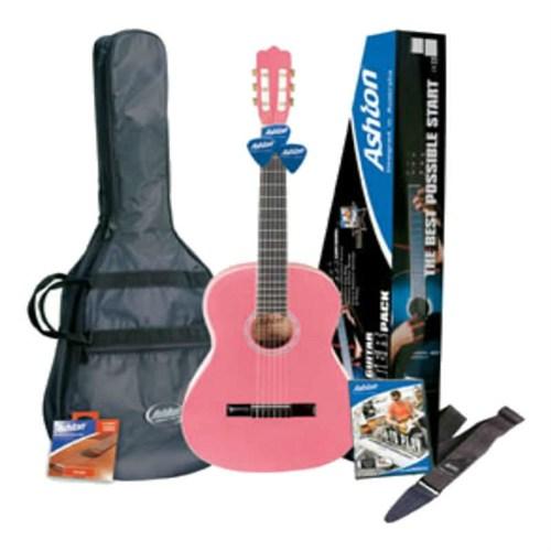 Ashton Cg44 Pk Klasik Gitar Paketi Pembe