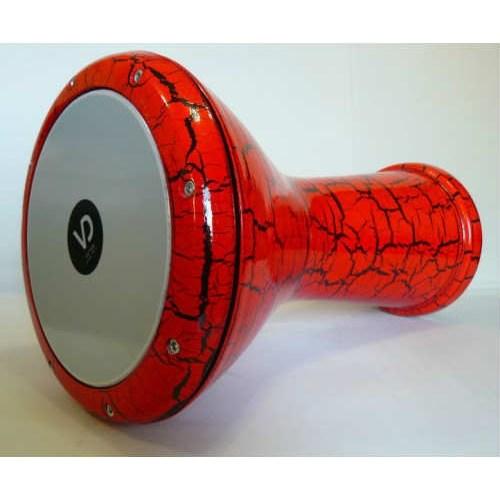 Darbuka Çömlek Çatlak Boya Kırmızı Vd-3040