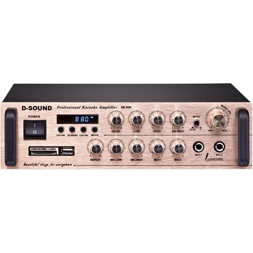 D-Sound 37664 Pa-200 Mixer Amplifier