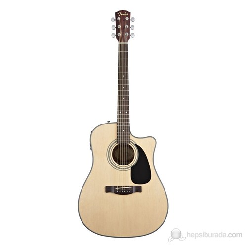 Fender Cd-100Ce Natural Cutaway Spruce Top Mahog B
