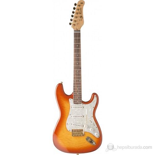 Jay Turser JT-300-QMT-AMB Elektro Gitar