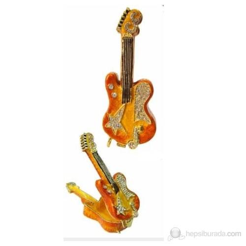 Fzsonata Elektro Gitar Şeklinde Taşlı Mücevher Kutusu