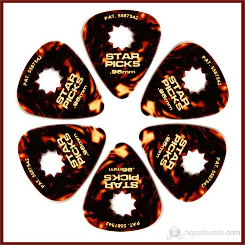 Star Picks Tortoise - Heavy 0.96Mm - 6 Pack Pena