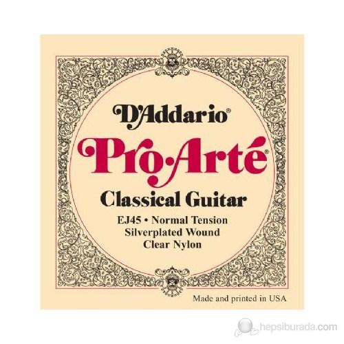 Daddario Ej45 Normal Tension Klasik Gitar Takım Tel