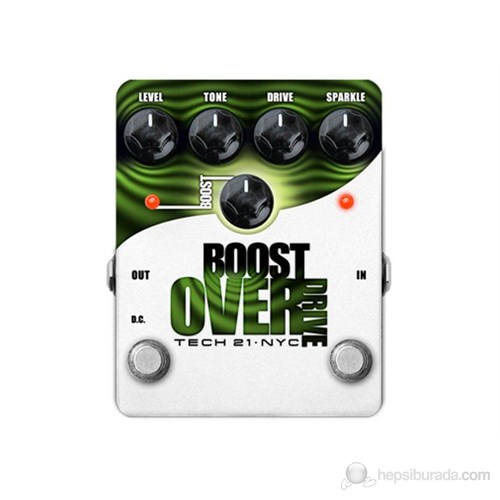 Tech 21 BSTO Boost Overdrive Gitar Efekt Pedalı